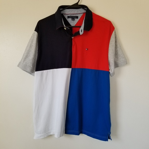015dfd27c Tommy Hilfiger Shirts & Tops | Boys Colorblock Polo Xl | Poshmark